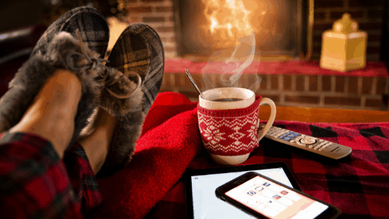 Slippers coffee and in front of the fire - finding best energy deals