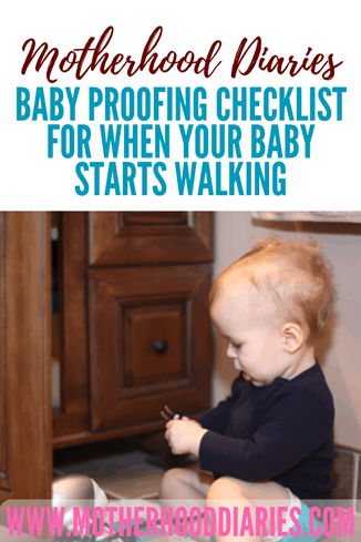 Baby proofing checklist for when your baby starts walking