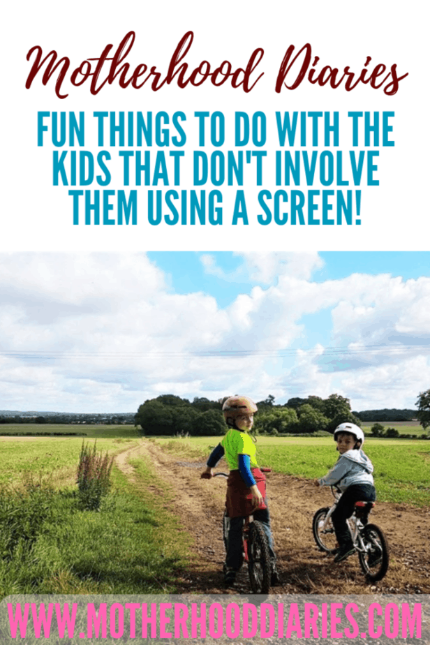 Fun things to do with the kids that don't involve them using a screen!