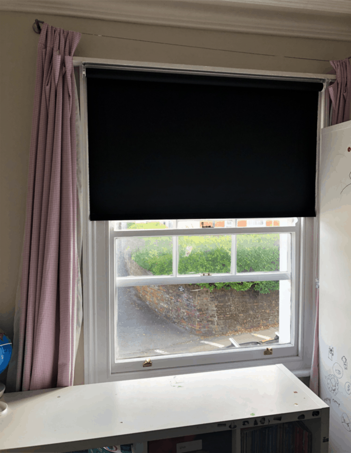 Blackout the bedroom so your child can go to bed at night with this Chelsea Blackout Roller Blind Frame from Terry's Fabrics