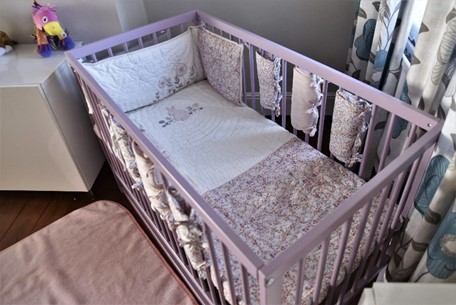 MoKee Mini Cot with Mamas & Papas Lilybelle set