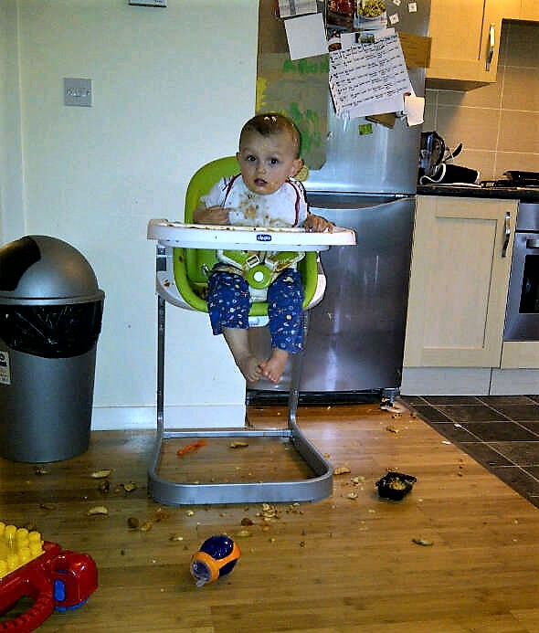 Messy highchair food