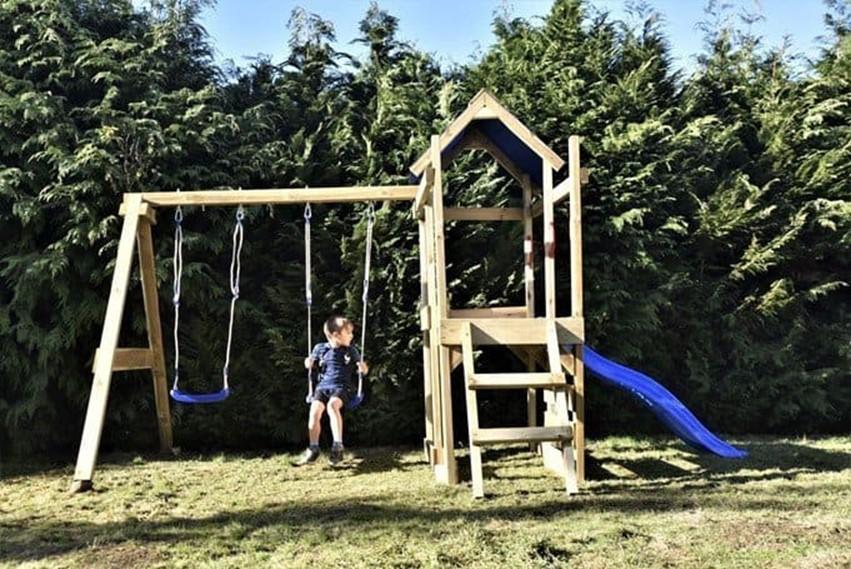 Climbing frame in the garden
