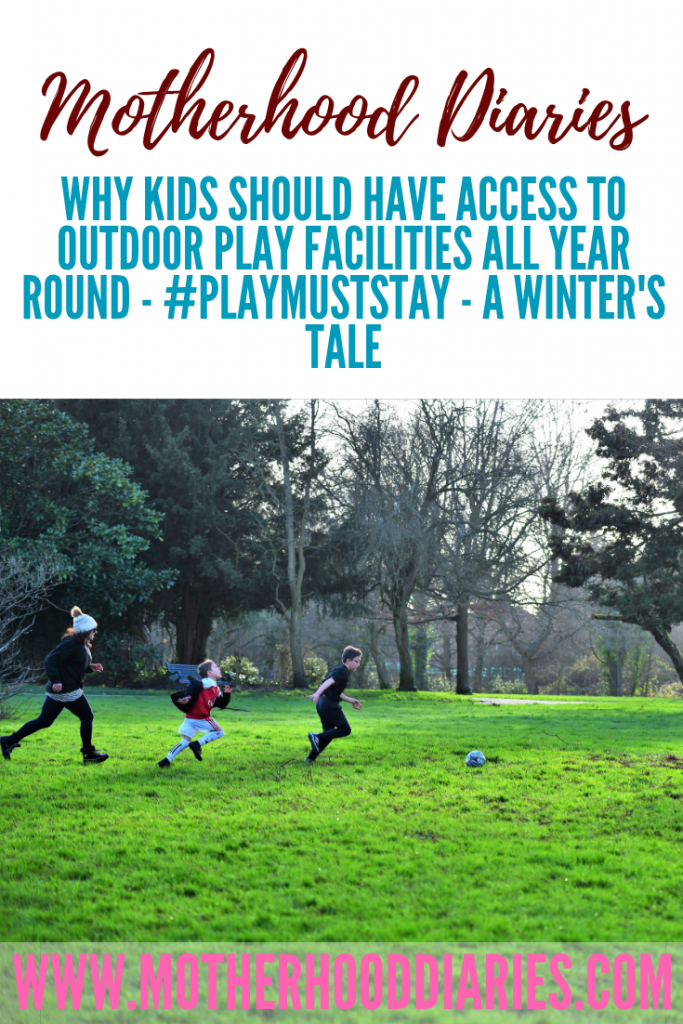 #AD Kids need outdoor play to grow! Check out my article and video which provides more information on the benefits of outdoor play facilities {permalink} #playmuststay #outdoorplay #learningthroughplay #outdoorfun #saveourparks #nowhere2play #playbuildschildren