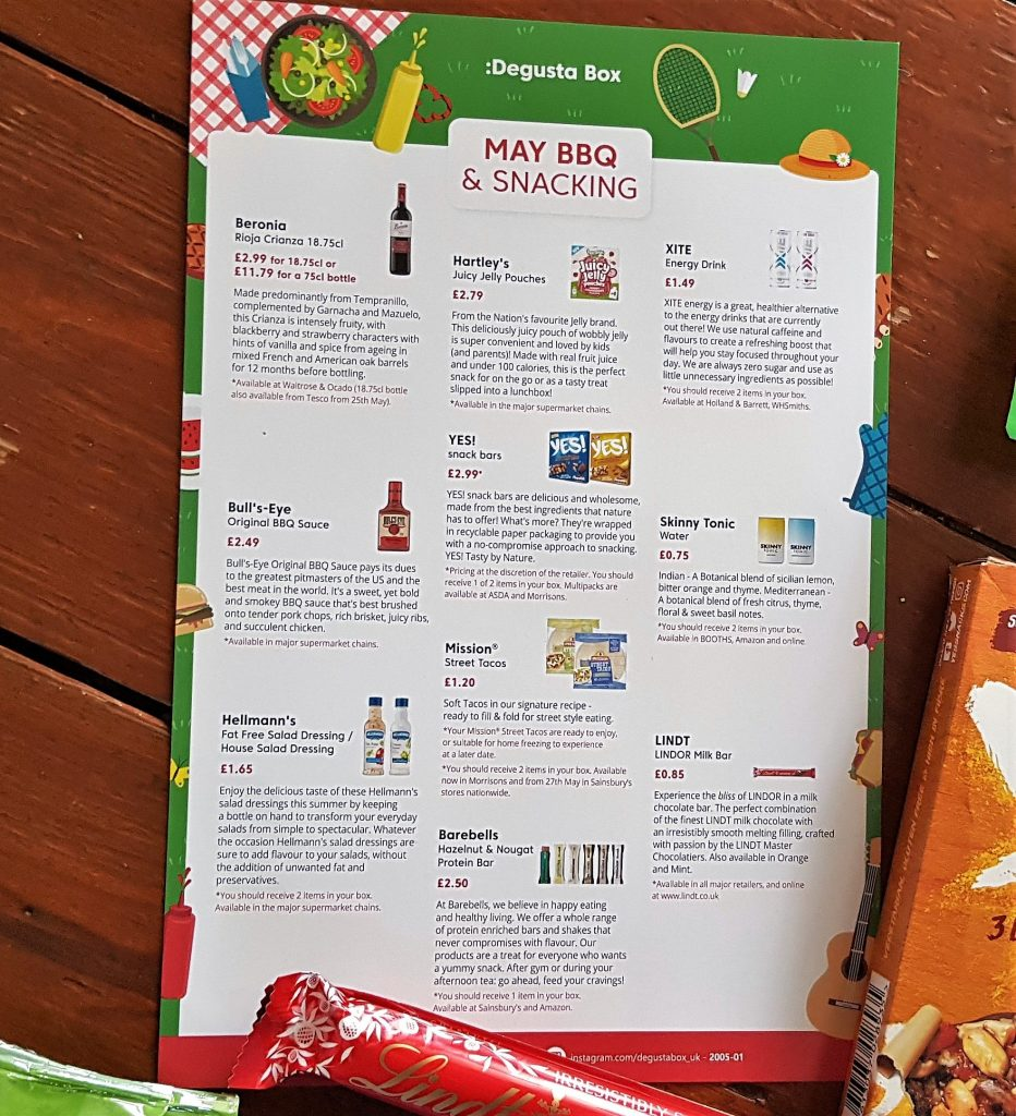 May BBQ and Snacking Degusta Box Review 2020