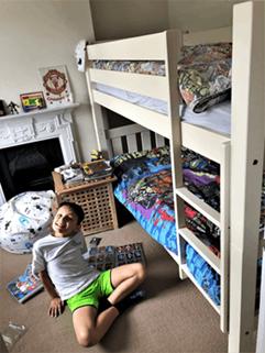Bunk bed in boy's room