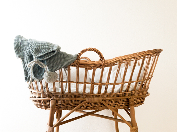 Moses basket - giving birth in a covid world