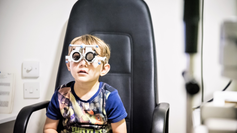 Child's first eye test