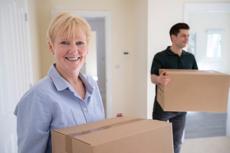 Elderly moving home - downsize and decluttering