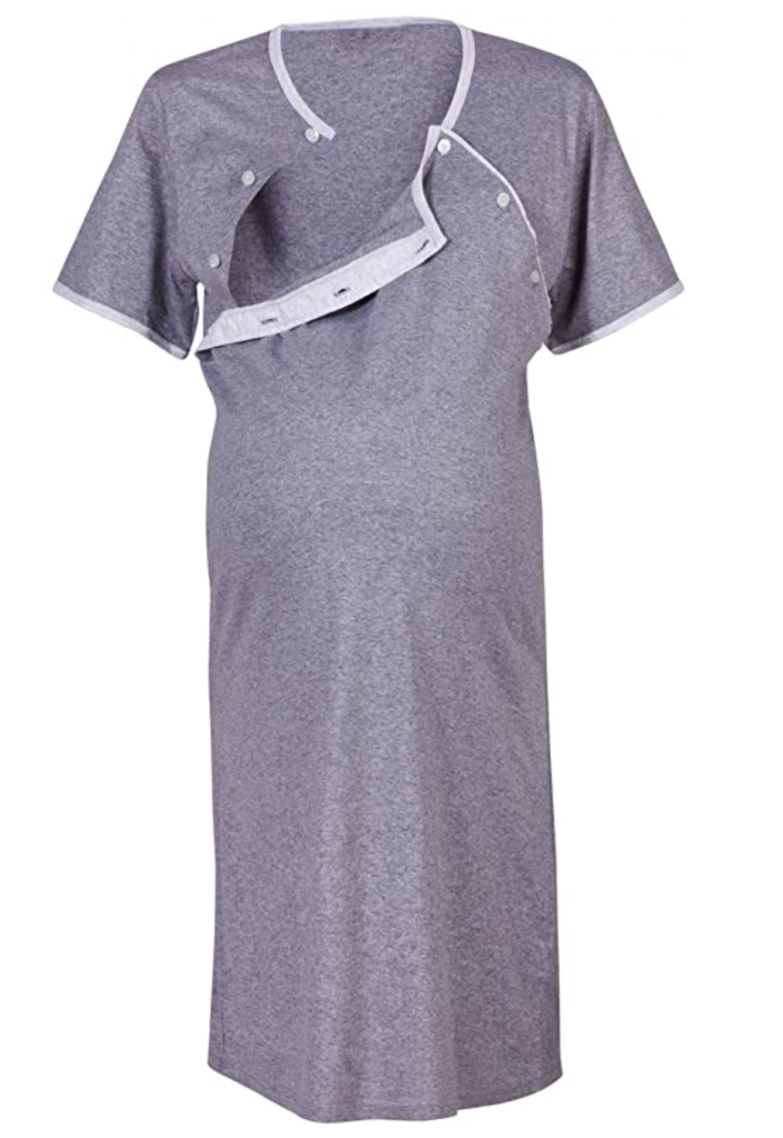 Happy Mama Maternity Gown Robe Nightie for Labour & Birth. Sold
