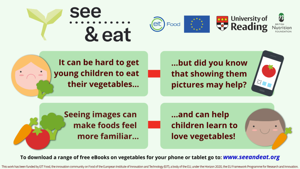 see & eat - encourage children to eat more vegetables