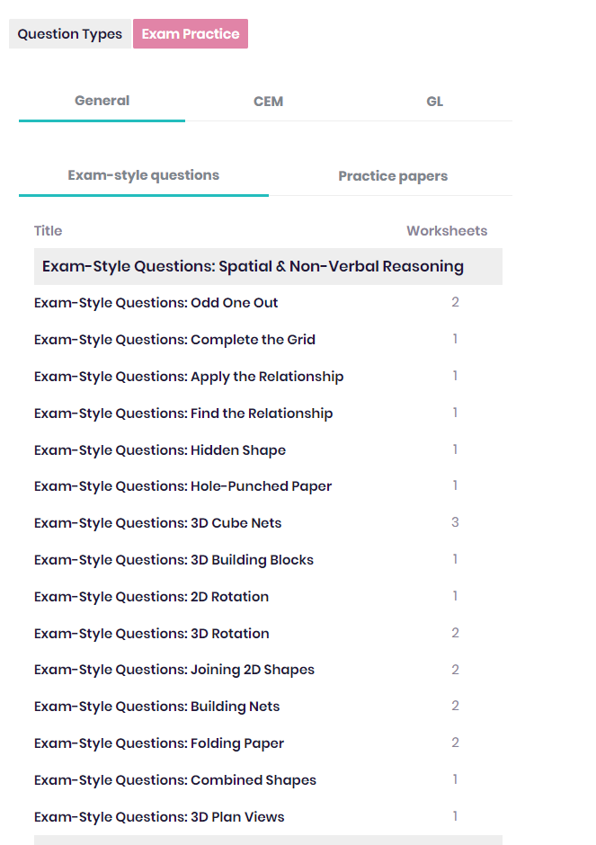 Exam-style questions EdPlace