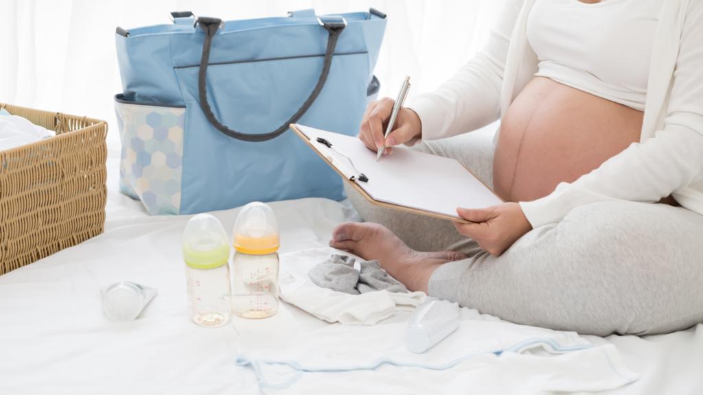 Hospital bag prep - hospital bag for mum and baby