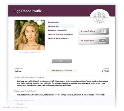 The process of egg donation for In Vitro Fertilisation (IVF)