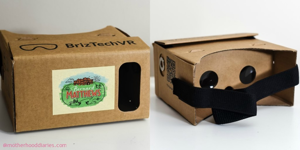 Bernard Matthews' £3 million rebrand shown in 360 degrees - Google Cardboard Head Set and packaging review
