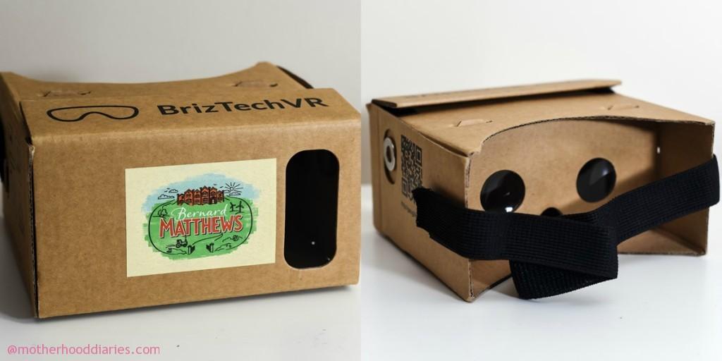 Bernard Matthews' £3 million rebrand shown in 360 degrees - Google Cardboard Head Set and packaging review