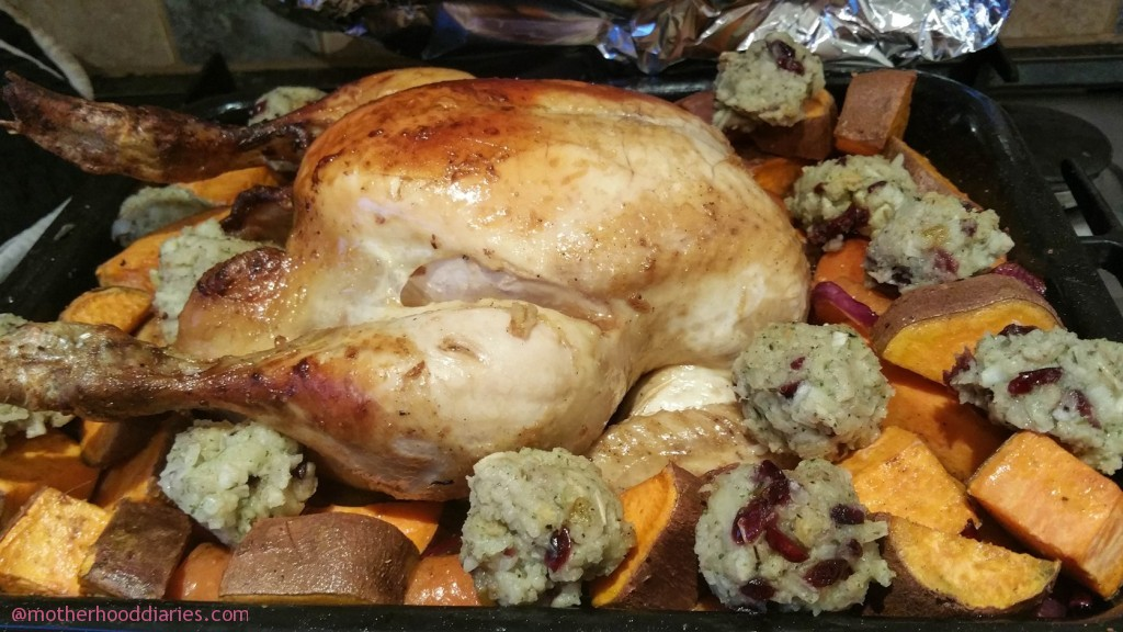 5-ingredient sweet and zesty roast chicken recipe with all the trimmings in under 2 hours!