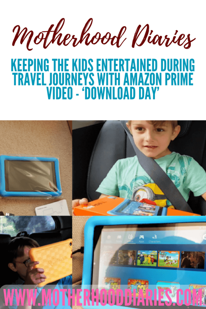 Keeping the kids entertained during travel journeys with Amazon Prime Video - 'Download Day'