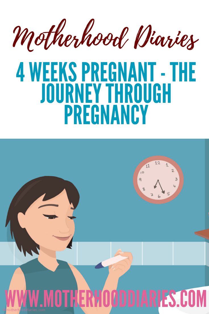4 weeks pregnant - The journey through pregnancy