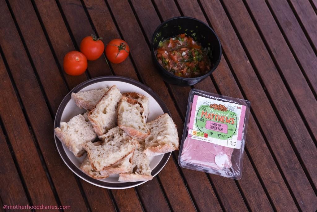 Bernard Matthews Brunch Challenge – Turkey Ham Bruschetta recipe