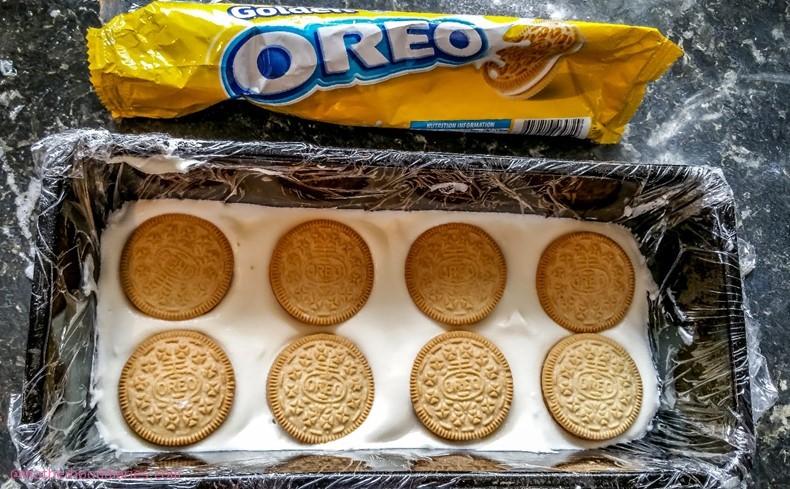 Golden & Peanut Butter Oreo Vienetta Recipe as part of the Oreo Wonderfilled Recipe Challenge
